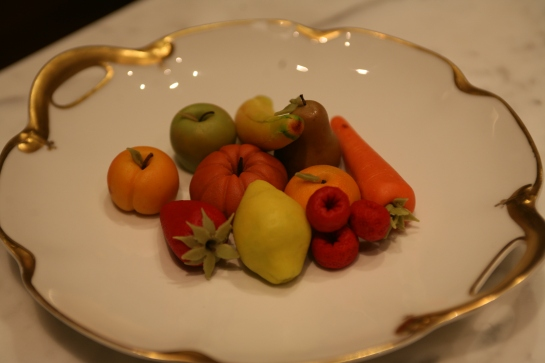 plate of marzipan